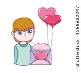 young cute lover boy with... | Shutterstock .eps vector #1288632247