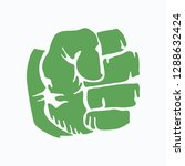 logo of compressed green fist.... | Shutterstock .eps vector #1288632424