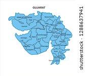gujarat map graphic   vector | Shutterstock .eps vector #1288637941