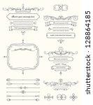 vintage calligraphy design... | Shutterstock .eps vector #128864185