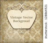 vintage vector background | Shutterstock .eps vector #128864521
