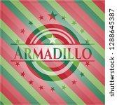 armadillo christmas emblem. | Shutterstock .eps vector #1288645387