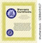 yellow warranty template. retro ... | Shutterstock .eps vector #1288645417