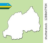rwanda map with national flag  | Shutterstock .eps vector #1288647934