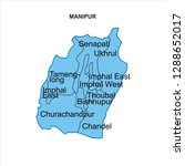 manipur map graphic   vector | Shutterstock .eps vector #1288652017