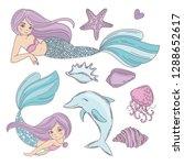 mermaid ocean cartoon travel...   Shutterstock .eps vector #1288652617