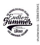 endless summer graphic design | Shutterstock . vector #1288655641