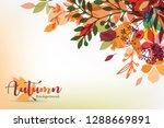 autumn leaves stylized... | Shutterstock .eps vector #1288669891