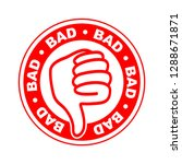 bad thumbs down stamp | Shutterstock .eps vector #1288671871