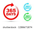 three hundred and sixty five... | Shutterstock .eps vector #1288671874