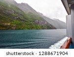 cruise on a ship through the... | Shutterstock . vector #1288671904
