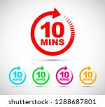 ten minutes icon set | Shutterstock .eps vector #1288687801
