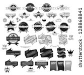 vintage design elements. labels ... | Shutterstock .eps vector #128868841