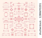 collection of vintage ornament...   Shutterstock .eps vector #1288693201