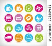 shopping buttons  shopping icon ... | Shutterstock .eps vector #128869651