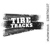 tire tracks print marks...   Shutterstock .eps vector #1288706137