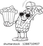 character popcorn mascot   Shutterstock .eps vector #1288710907