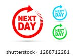 next day icon set | Shutterstock .eps vector #1288712281