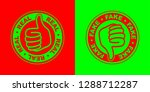 real and fake icons   Shutterstock .eps vector #1288712287