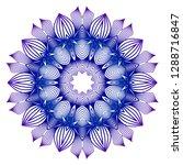 round blue  purple gradient... | Shutterstock .eps vector #1288716847
