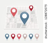 mapping pins icon | Shutterstock .eps vector #128872075