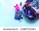 bright composition of fashion... | Shutterstock . vector #1288722361