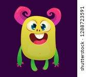 cartoon funny monster.... | Shutterstock .eps vector #1288723591