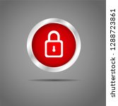 lock button red icon    Shutterstock .eps vector #1288723861