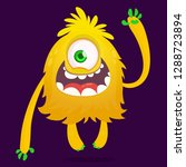 cute cartoon monster with one... | Shutterstock .eps vector #1288723894