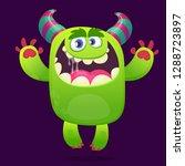 funny cartoon monster.... | Shutterstock .eps vector #1288723897
