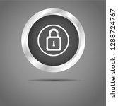 lock button grey icon     Shutterstock .eps vector #1288724767