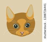 muzzle ginger smiling cat.... | Shutterstock .eps vector #1288726441