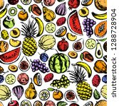 vector seamless pattern with... | Shutterstock .eps vector #1288728904
