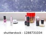 bright composition of fashion... | Shutterstock . vector #1288731034