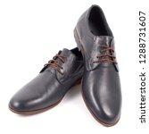 male black leather shoe on... | Shutterstock . vector #1288731607