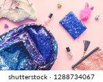 bright composition of fashion... | Shutterstock . vector #1288734067