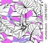 tropical  stripe  animal motif. ...   Shutterstock .eps vector #1288738357