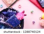 bright composition of fashion... | Shutterstock . vector #1288740124