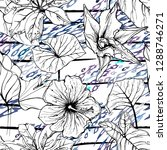 modern stripes jungle motif....   Shutterstock .eps vector #1288746271