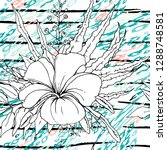 modern stripes jungle motif....   Shutterstock .eps vector #1288748581