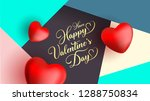happy valentine's day modern... | Shutterstock .eps vector #1288750834
