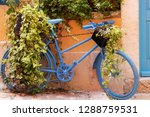 beautiful blue bicycle on the...   Shutterstock . vector #1288759531