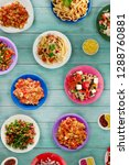 pasta with vegetables and sauce ... | Shutterstock . vector #1288760881