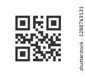 qr code icon vector images | Shutterstock .eps vector #1288763131