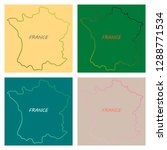 map of france with flag.... | Shutterstock .eps vector #1288771534