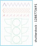 a4 worksheet for preschool kids.... | Shutterstock .eps vector #1288773691