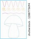 a4 worksheet for preschool kids.... | Shutterstock .eps vector #1288773694