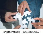 close up. pieces of the puzzle... | Shutterstock . vector #1288800067