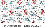seamless floral pattern in... | Shutterstock .eps vector #1288801624