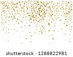 golden confetti isolated on... | Shutterstock . vector #1288822981